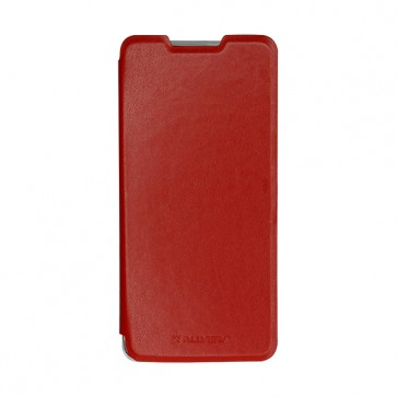 Soul X8 Pro red leather flip cover