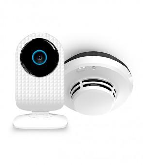 Pakiet bezpieczeństwa przeciwpożarowego – kamera SmartCam + czujnik dymu