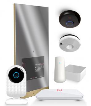 Zestaw: Lustro Smart Mirror 2 + Kamera SmartCam + Waga + Tester skóry + Czujnik wielofunkcyjny + Nadajnik podczerwieni + Przełącznik