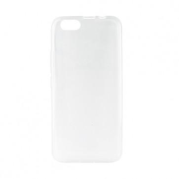 Capac protectie spate silicon semitransparent alb A10 Plus