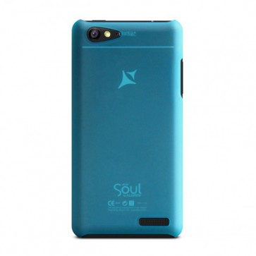 Capac de protectie semitransparent albastru X1 Soul Mini