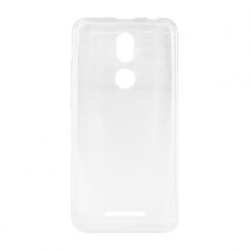 Capac protectie spate silicon semitransparent alb P10 Style