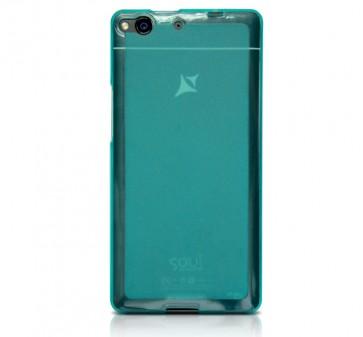 X1 Soul capac de silicon semitransparent albastru