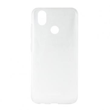Capac protectie spate silicon semitransparent alb P10 MAX