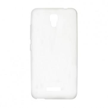 Capac protectie silicon alb semitransparent P7 PRO