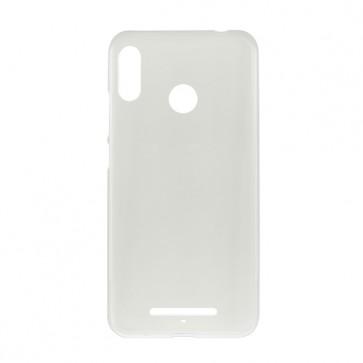 Capac protectie spate silicon semitransparent alb Soul X5 Style