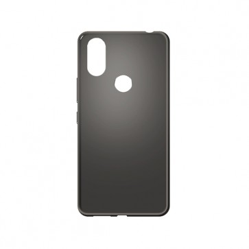 Capac protectie spate silicon semitransparent negru Soul X7 Style
