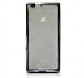 X1 Soul capac de silicon semitransparent alb