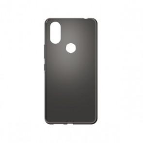Capac protectie spate silicon semitransparent negru Soul X7 Style